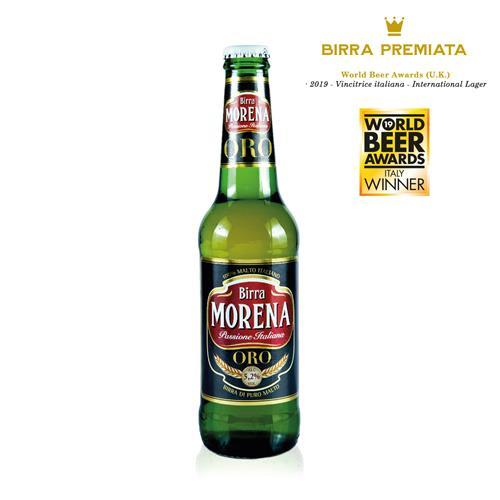 Morena ORO 33cl cassa da 24 pz - 5,2 % alc. vol. - Birra di Puro Malto