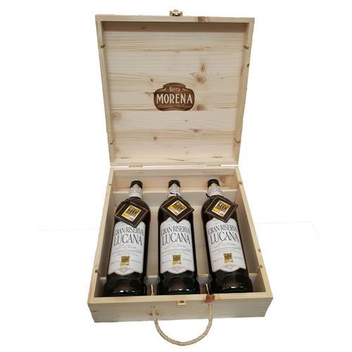Craft Beer - 3 bottiglie cl 75 in cassa di Abete - Naturale - Gran Riserva Lucana