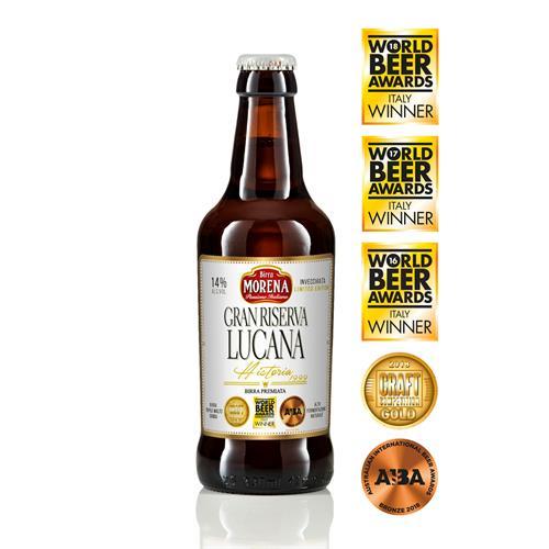 Gran Riserva Lucana cl 33 cassa da 12 PZ  -14 % alc. vol. - Craft Beer - Birra Morena  -Triplo Malto Invecchiata