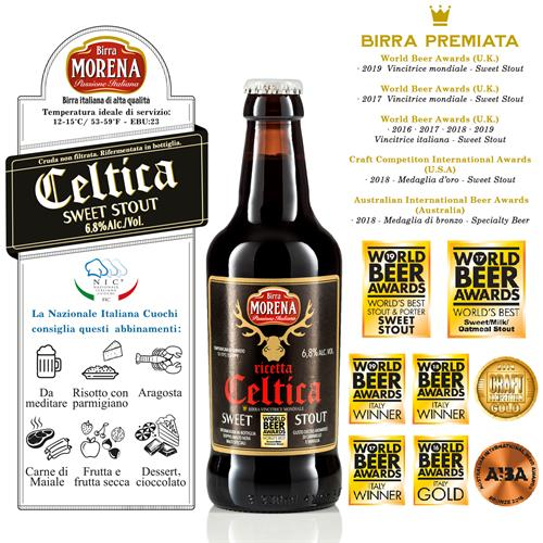 Celtica Sweet Stout 33cl cassa da 12 pz - 6,8 % alc. vol.- Craft Beer