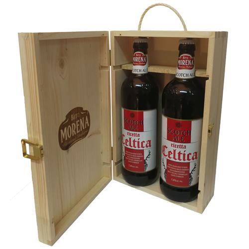 Cassa Di Abete Naturale con 2 Craft Beer 75cl (2 Celtica Scotch Ale)