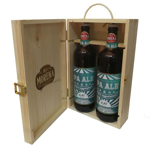 Cassa Di Abete Naturale con 2 Craft Beer 75cl (2 IPA)