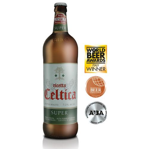 Celtica Super CL 75 - 7,2 % alc. vol. - Craft Beer - Birra Morena - Doppio Malto Bionda