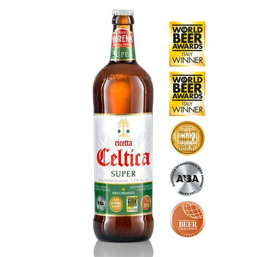 Celtica Super CL 75 - 7,2 % alc. vol. - Craft Beer - Birra Morena - Doppio Malto Bionda