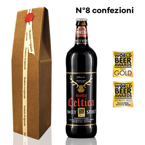 8 Confezioni Regalo Celtica Sweet Stout cl 75 - Craft Beer