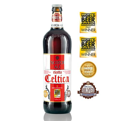 Celtica Scotch Ale CL 75 - 7,6 % alc. vol. - Craft Beer - Birra Morena - Doppio Malto Ambrata