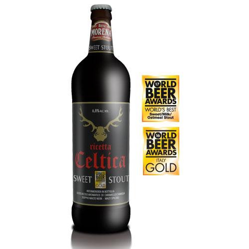 Celtica Sweet Stout CL 75 - 6,8 % alc. vol. - Craft Beer - Birra Morena - Doppio Malto - Speciale
