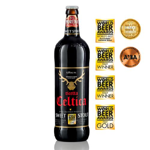 Celtica Sweet Stout CL 75 - 6,8 % alc. vol. - Craft Beer - Birra Morena - Doppio Malto - Speciale